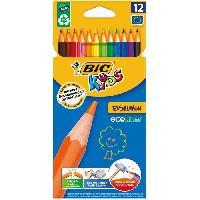 Ecriture - Calligraphie BIC Kids - Crayons de couleur BIC Kids Evolution x12