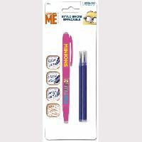 Ecriture - Calligraphie LES MINIONS - Stylo roller avec 2 recharges - Gel - Effacable - Bleu Generique