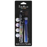 Ecriture - Calligraphie LITTLE MARCEL Stylo Roller + 2 recharges gel effacable - Bleu - S-Coque