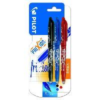 Ecriture - Calligraphie PILOT - Frixion Ball Moyen - Encre noire / bleue / rouge - x3