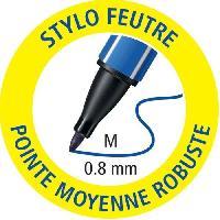 Ecriture - Calligraphie Pochette x 4 STABILO pointMax - noir