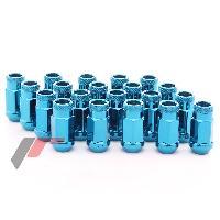 Ecrous de roues 20 Ecrous JN1 12x125 ouverts - L2 45mm - Acier Forge - Bleu - coniques