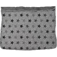 Edredon - Couverture - Plaid Bebe DOOKY Couverture bicolore - Etoiles Grises - Uni - Gris - Dooky The Original