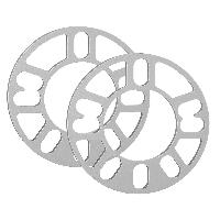 Elargisseurs de Voie 2 Elargisseurs de voie 3mm Universels - 4-5 trous