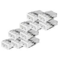 Electricite - Domotique 10 bornes blanches Wago a 2 entrees 2273-202