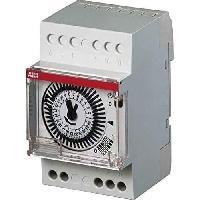 Electricite - Domotique ABB 426293GSB Horloge analogique 24 h 1 canal 3 modules - Gris