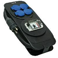 Electricite - Domotique BRENNENSTUHL 1152301 Console multiprise avec différentiel 30mA 5m. bloc 4 prises étanche avec câble H07RN-F 3G2.5 (5 m). noir & bleu