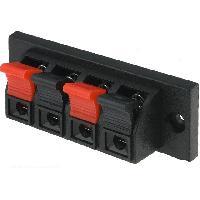 Electricite - Domotique Bornier stereo pour haut-parleur - 4 poles - 60x70x3.5mm