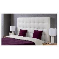 Element De Lit FINLANDEK MUSTA Tete de lit capitonnee style contemporain en bois pin et epicea massif - Simili blanc - L 140 cm