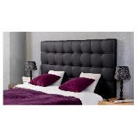 Element De Lit FINLANDEK MUSTA Tete de lit capitonnee style contemporain en bois pin et epicea massif - Simili noir - L 160 cm