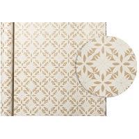 Emballage Cadeau CLAIREFONTAINE Rouleau de papier Cadeau Fleurs - Sous film - 70 g/m² - Blanc