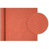 Emballage Cadeau CLAIREFONTAINE Rouleau de papier Cadeau Fleurs - Sous film - 70 g/m² - Rouge