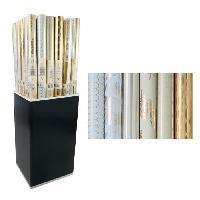 Emballage Cadeau CLAIREFONTAINE Rouleau papier cadeau Premium Trésor - 2 x 0.7 m - 80 g / m² - 6 motifs assortis sous film