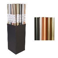 Emballage Cadeau CLAIREFONTAINE Rouleau papier kraft Irise Métal - 2 x 0.7 m - 54 g - 5 motifs assortis sous film