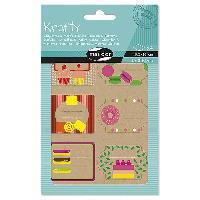 Emballage Cadeau MAILDOR Pochette étiquettes décoratives Fruits - 4 planches de 2 visuels - Assortis