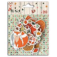 Embellissement - Petit Accessoire De Decoration - Motif A Coller 20 Chipboards Miel et Cannelle