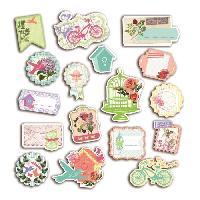 Embellissement - Petit Accessoire De Decoration - Motif A Coller Pack de 17 Chipboards Couleurs Rendez-Vous
