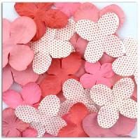 Embellissement - Petit Accessoire De Decoration - Motif A Coller Pack de 25 Fleurs Rose