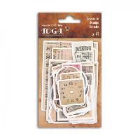 Embellissement - Petit Accessoire De Decoration - Motif A Coller Pack de 41 Formes Decoupees Le Temps Des Secrets