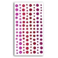 Embellissement - Petit Accessoire De Decoration - Motif A Coller TOGA 120 Strass Et Perles Fuchsia et Rouge