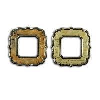 Embellissement - Petit Accessoire De Decoration - Motif A Coller TOGA 2 Cadres Metal Et Epoxy