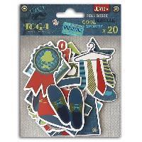 Embellissement - Petit Accessoire De Decoration - Motif A Coller TOGA Lot de 20 Chipboards 100 Masculin