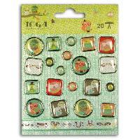 Embellissement - Petit Accessoire De Decoration - Motif A Coller TOGA Lot de 21 embellissements Hiboux