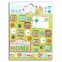 Embellissement - Petit Accessoire De Decoration - Motif A Coller TOGA Lot de 21 embellissements Home sweet home