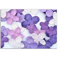 Embellissement - Petit Accessoire De Decoration - Motif A Coller TOGA Pack de 25 Fleurs Violet