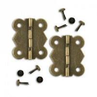 Embellissement - Petit Accessoire De Decoration - Motif A Coller TOGA Pack de 2 Charnieres Metal Vintage