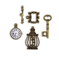 Embellissement - Petit Accessoire De Decoration - Motif A Coller TOGA Pack de 4 Breloques