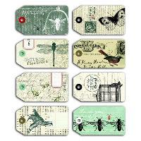 Embellissement - Petit Accessoire De Decoration - Motif A Coller TOGA Pack de 8 Tags Cabinet De Curiosites