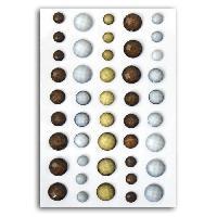 Embellissement - Petit Accessoire De Decoration - Motif A Coller TOGA Pack de Perles A Facettes Beige Marron