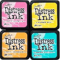 Embossage Encreurs couleurs vives - 4 pieces