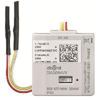 Emetteur - Actionneur - Recepteur - Transmetteur Domotique DIAGRAL Emetteur encastrable sur pile DIAG68AVX
