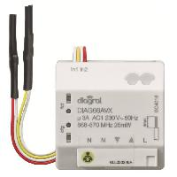 Emetteur - Actionneur - Recepteur - Transmetteur Domotique DIAGRAL Récepteur encastrable pour volets roulants DIAG66AVX