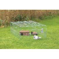 Enclos - Chenil Enclos galvanise Natura - 180 x 60 x 116 cm - Avec couverture - Pour lapin