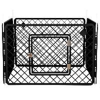 Enclos - Chenil IRIS OHYAMA - Enclos H-604 - Plastique - Gris - 90 x 90 x 60 cm - Pour chien