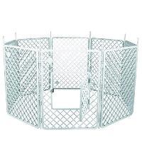 Enclos - Chenil IRIS OHYAMA - Grand parc H-908 - Plastique - Blanc - 60 x 60 x 86 cm - Pour chien