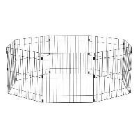 Enclos - Chenil IRIS OHYAMA - Parc d'exterieur - Ancrage au sol - 24 pouces - epoxy - Noir - 1.5 m2 - Pour chien