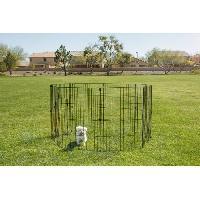Enclos - Chenil IRIS OHYAMA - Parc d'extérieur - Ancrage au sol - 36 pouces - époxy - Gris - 1.5 m² - Pour chien