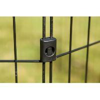 Enclos - Chenil IRIS OHYAMA - Parc d'extérieur - Ancrage au sol - 36 pouces - époxy - Noir - 1.5 m² - Pour chien