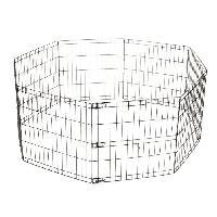 Enclos - Chenil MPETS Enclos en metal Foldable Puppy Pen - 8x(62x66)cm - Noir - Pour chiot - M Pets