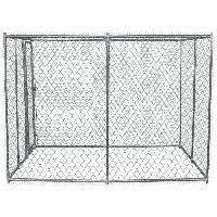 Enclos - Chenil POILS & PLUMES Chenil Brutus L en acier 4x4x1.82 m - Pour chien - Poils & Plumes Chien