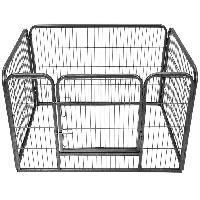 Enclos - Chenil POILS & PLUMES Enclos Doggy 1 en acier 93x63x61 cm - Pour chiot - Poils & Plumes Chien