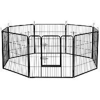 Enclos - Chenil POILS & PLUMES Enclos Doggy 2 en acier 138x82x70 cm - Pour chiot - Poils & Plumes Chien