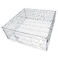 Enclos - Chenil POILS et PLUMES Enclos Bunny 1 en acier 1.19x1.19x0.45 m - Pour chien