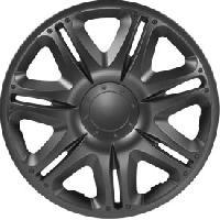 Enjoliveur Enjoliveurs anthracite NASCAR R GRAY 15 -Boite de 4- - ADNAuto