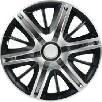 Enjoliveur Enjoliveurs chrome-silver-black MAXIMUS 14 -Boite de 4- - ADNAuto