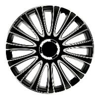 Enjoliveur Enjoliveurs de roues LEMANS PRO SILVER BLACK 14 POUCES - ADNAuto